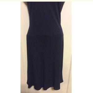 Vintage Dresses - Vintage Navy Blue Sequin Dress